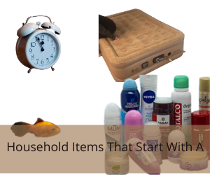 Household Items That Start With A